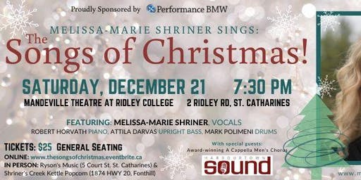 Melissa-Marie Shriner sings The Songs of Christmas!