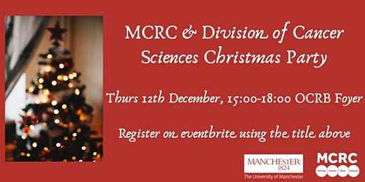 MCRC & Division of Cancer Sciences Christmas Party