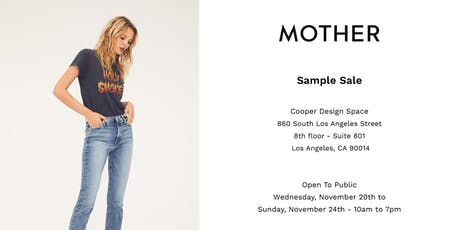 Mother Denim Sample Sale tickets