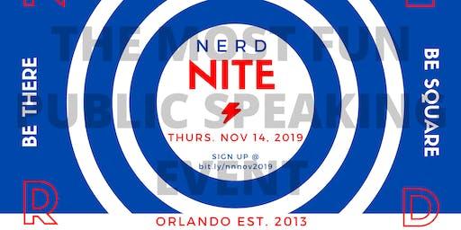 Nerd Nite Orlando - November 2019