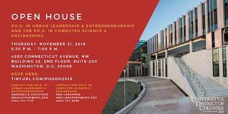 UDC Ph.D. Open House tickets