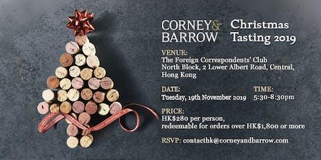 Corney & Barrow Hong Kong 2019 Christmas Tasting tickets
