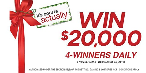 It's Courts Actually- Win 20K Off Your Purchase!