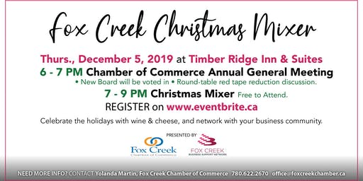 Fox Creek Chamber of Commerce AGM & Christmas Mixer
