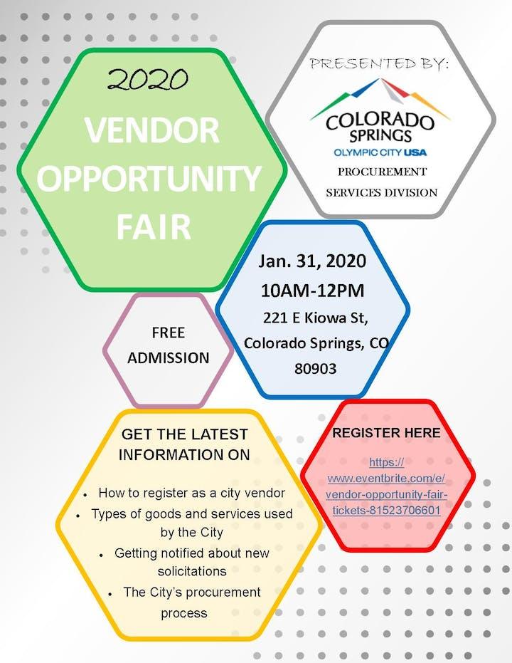 El Paso County Fair 2020.Vendor Opportunity Fair Tickets Fri Jan 31 2020 At 10 00