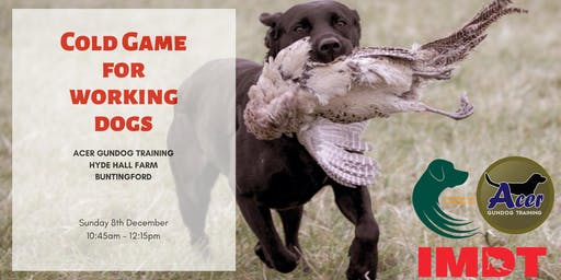 Cold Game for Working Dogs Workshop