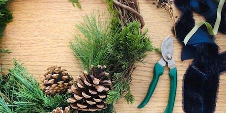 Fresh Holiday Wreath Workshop (& Wine!) tickets