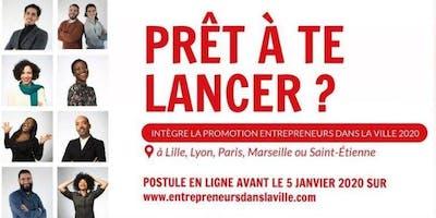 """Evènement d'information """"Entrepreneurs dans la Ville""""  à Saint-Ouen"""