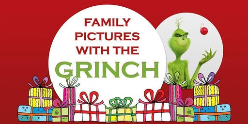 Family Pictures with the Grinch at Movement Mortgage