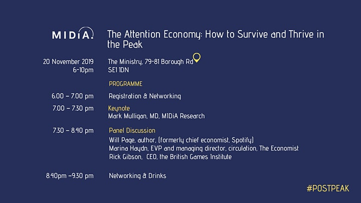 The Attention Economy: How to Survive and Thrive in the Peak image