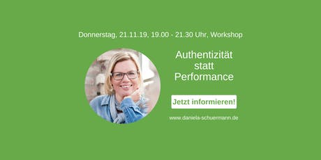 Authentizität statt Performance - Workshop Tickets