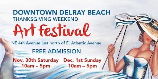 20th Annual Downtown Delray Beach Thanksgiving Weekend Art Festival