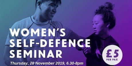 Women's Self-Defence Seminar tickets