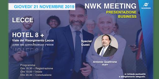 Neworkom Meeting - Presentazione del Business - Lecce, 21 Novembre 2019
