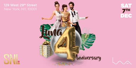 Luna 4th. Anniversary Party tickets