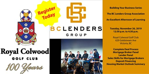 BC Lenders Group Association - Building Your Business Series