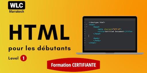 Formation Certifiante en HTML pour les Débutants (niv 1)