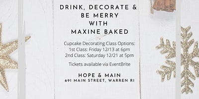 Drink, Decorate & Be Merry: Dec 21