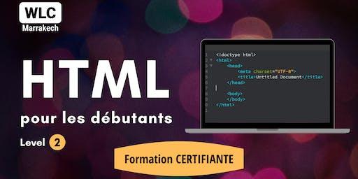 Formation Certifiante en HTML pour les Débutants (niv 2)