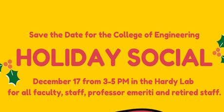College of Engineering Holiday Social tickets