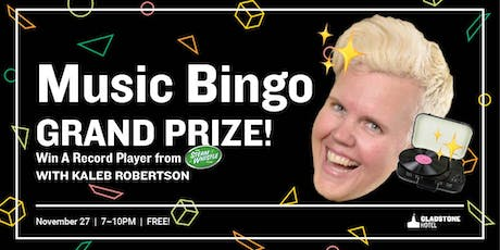 Music Bingo GRAND PRIZE: Win A Record Player from Steam Whistle tickets
