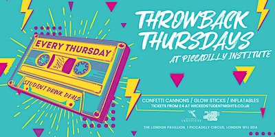 Throwback Thursdays @ Piccadilly Institute