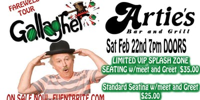 COMEDIAN GALLAGHER comes to ARTIES in FRENCHTOWN on FINAL FAREWELL TOUR