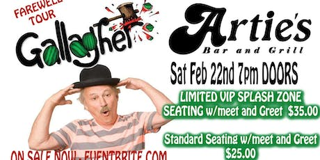 COMEDIAN GALLAGHER comes to ARTIES in FRENCHTOWN on FINAL FAREWELL TOUR tickets