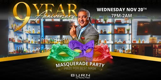 BURN's 9th Anniversary Masquerade Party