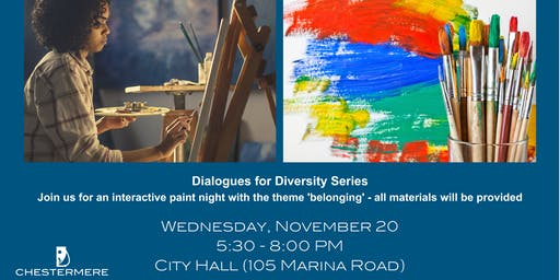 Dialogues for Diversity - Paint Night Event