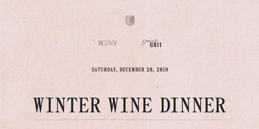 Winter Wine Dinner with Grace & Grit