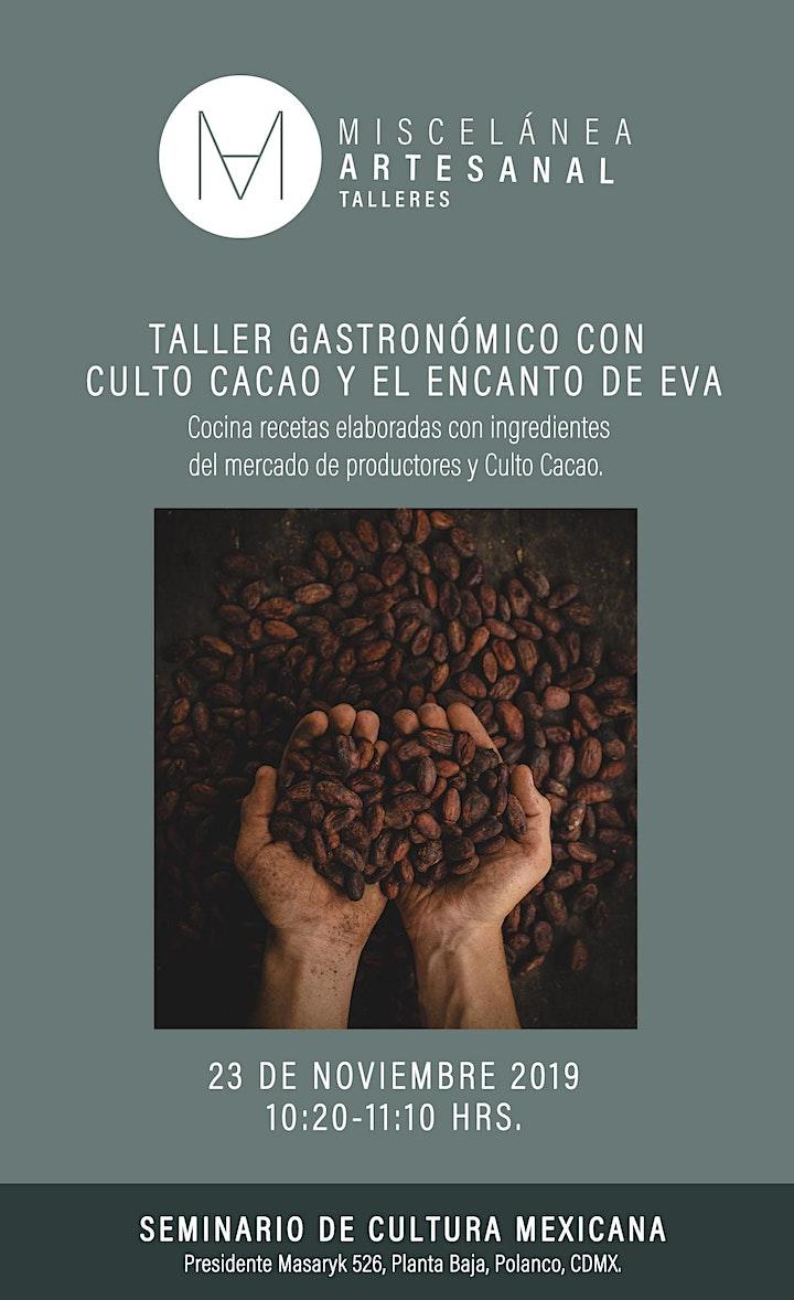 Imagen de Taller Gastronómico con CULTO CACAO y EL ENCANTO DE EVA