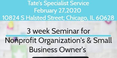 3 Week Seminar for Nonprofit Organizations & Business Owners
