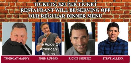 East Side Comedy is Back at Pomodorino in Huntington tickets