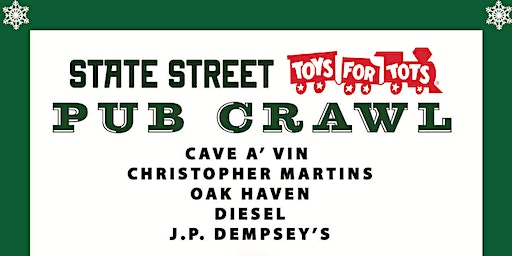 State Street Toys For Tots Pub Crawl!