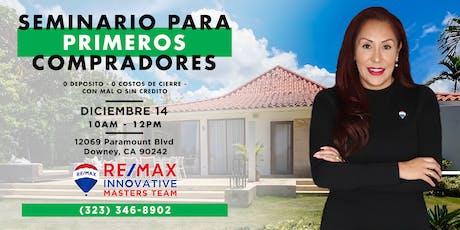SEMINARIO GRATUITO PARA PRIMEROS COMPRADORES - 0% tickets