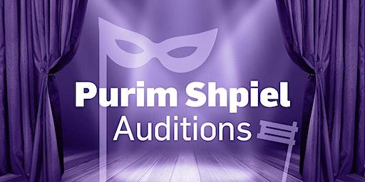 Purim Shpiel Auditions
