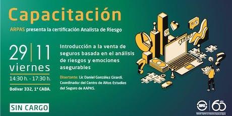 ARPAS presenta la certificación Analista de Riesgos entradas