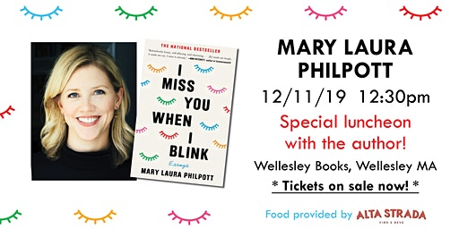 """Mary Laura Philpott luncheon for """"I Miss You When I Blink"""""""