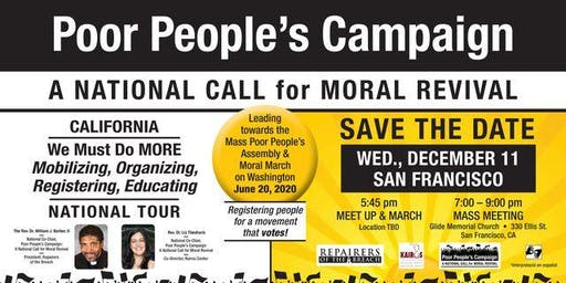 Ride Share for the Poor People's Campaign March and Meeting from Sac to SF