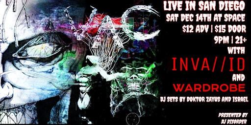 Velvet Acid Christ live with Inva//id and Wardrobe in San Diego at SPACE