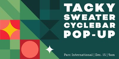 Merry & Bright CycleBar Tacky Sweater Pop-Up