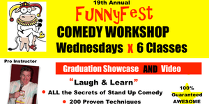 Stand Up Comedy WORKSHOP - 6x WEDNESDAYS @ 7 to 9 pm...