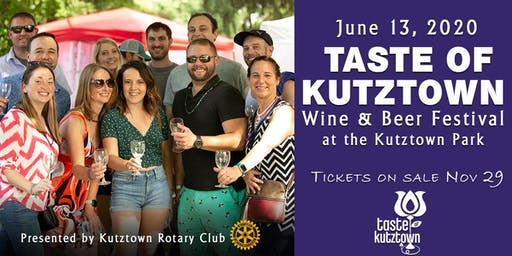 2020 Taste of Kutztown Wine & Beer Festival