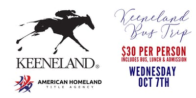 KEENELAND BUS TRIP OCT 2020