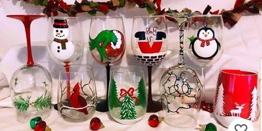 Christmas Wine Glass Painting! 11/24