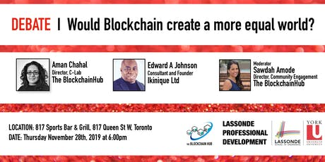 Debate | Be it resolved that Blockchain will create a more equal world tickets