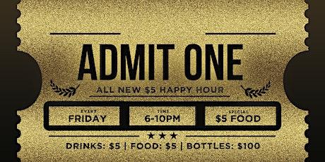 Beat The Clock Happy Hour @ Stadium Club Friday tickets