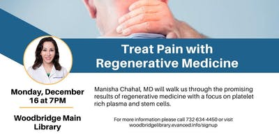 Treat Pain with Regenerative Medicine