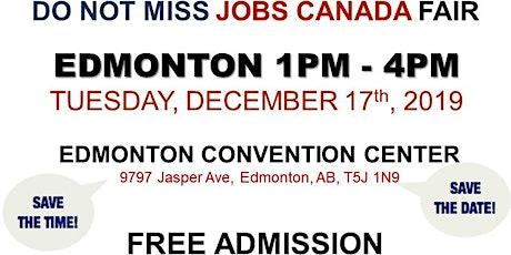 Edmonton Job Fair - December 17th, 2019 tickets